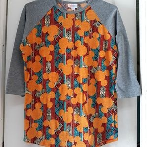 Lularoe Mickey pattern top